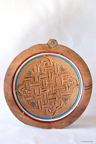 AMOEDANG WANI – PLAT A VANNER / tee | acajou, peinture glycéro – diam 59 – 1980 – Tapanahoni, Tabiki – PV 31